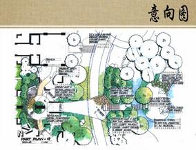 别墅庭院景观局部平面