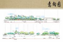 别墅住宅景观设计剖面图