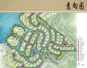 别墅住宅区景观规划设计平面图