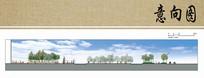 滨水景观设计立面图
