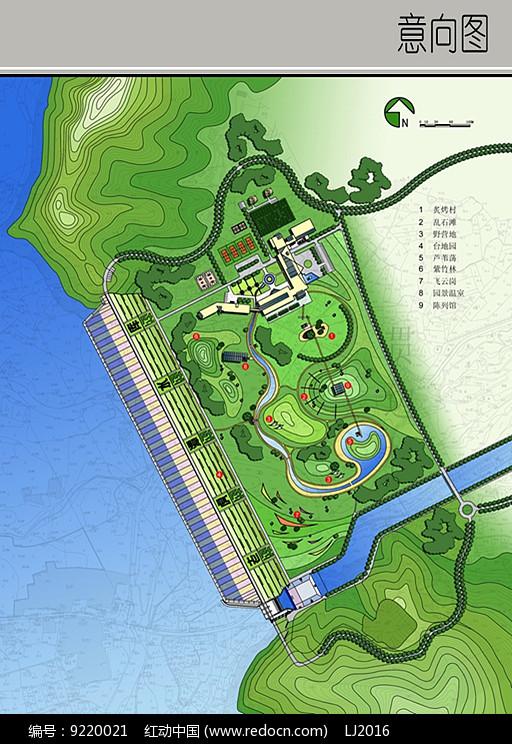 滨水绿地休闲景观设计平面图图片