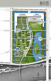 长方形住宅区景观分析彩平图