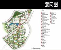 福州某住宅区景观彩平图