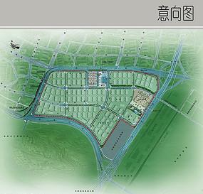 工业园区彩平图