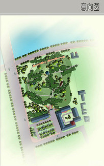 古典庭院景观平面图