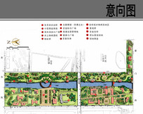 河道景观节点平面