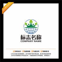皇冠地球教育培训LOGO设计 CDR