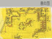 建筑景观植物配置平面图