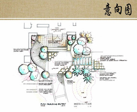 建筑入口手绘平面图图片