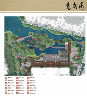 建筑庭院水景设计平面