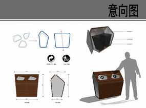 塑料分类垃圾桶图片