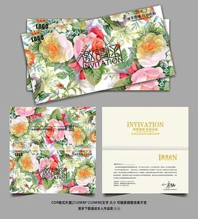 时尚花卉风格邀请函