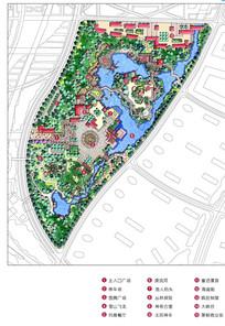 乐水园景观平面图
