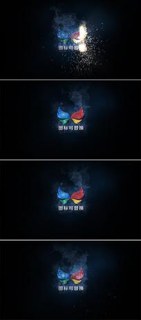 粒子火花logo演绎ae模板 aep