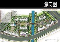 某万科曲型住宅景观总平面图