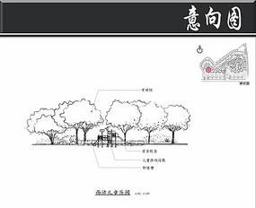 某小区景观规划儿童乐园剖面