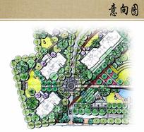 喷泉广场景观平面图 JPG