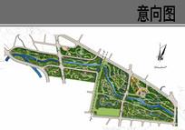 生态公园景观规划平面图