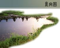 生态湖面PS素材