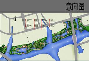 生态走廊设计总平面
