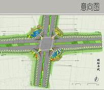 十字路口彩平图 JPG
