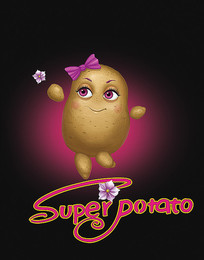 土豆马铃薯卡通插画