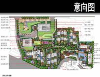 武汉某住宅景观彩平图