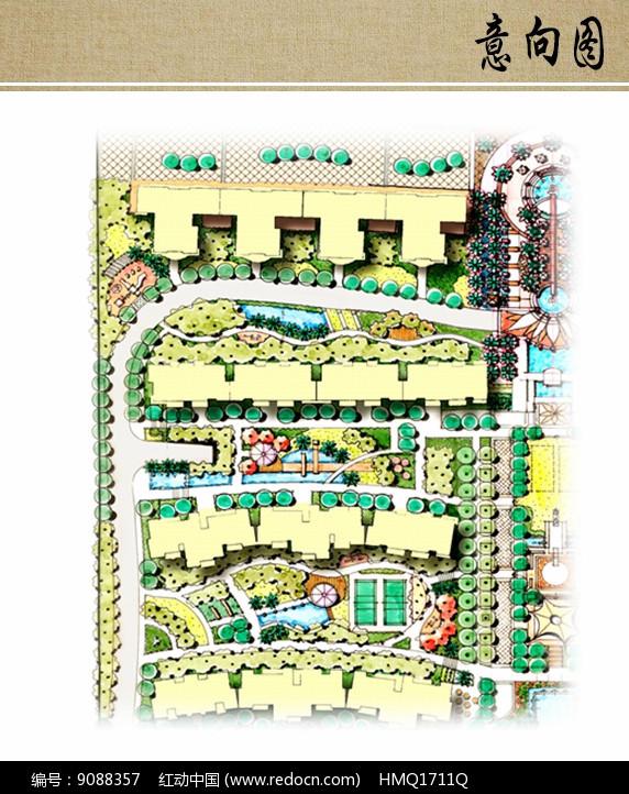 小区景观设计局部平面