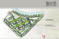 小区绿色走廊景观彩平图 JPG
