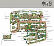 小区手绘景观规划