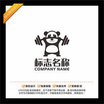 熊猫健身LOGO设计