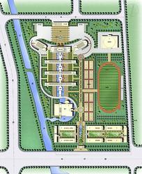 学校景观规划彩平图