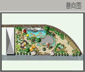 中式景观彩平