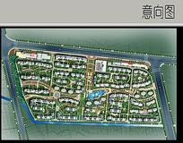 中式住宅区规划平面图
