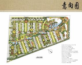 住宅区规划一期平面图