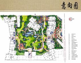 住宅区环境设计平面图