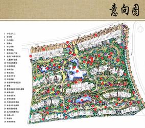 住宅区景观设计概念平面图