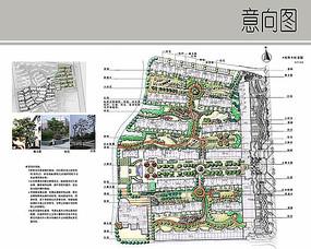 住宅区景观植物彩平图