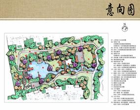 住宅区绿地景观设计平面图