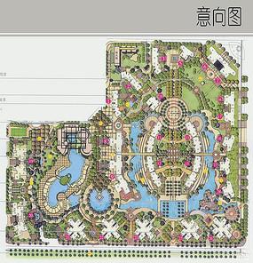 住宅区完整的规划彩平