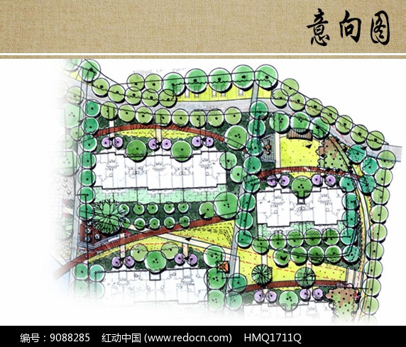 组团庭院景观平面图图片
