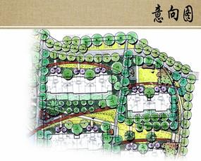 组团庭院景观平面图