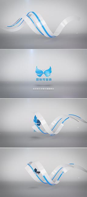 3d条纹logo演绎ae模板