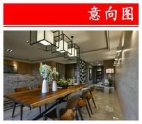 大空间国外式餐厅