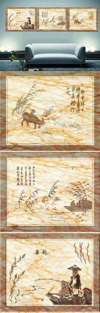 大理石浮雕装饰画