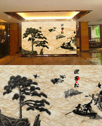 大理石纹理浮雕背景墙