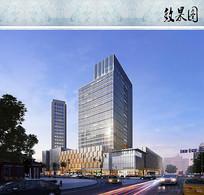 购物中心建筑效果图 JPG