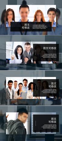 简洁大气商务企业宣传片模板 aep