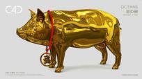 金猪送福C4D模型