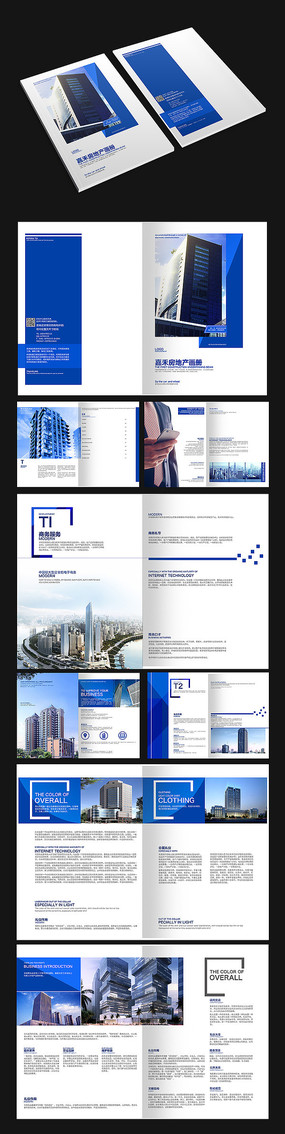 蓝色大楼画册设计